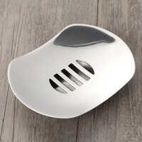 Fliegende Untertasse Seife Dish Edelstahl Seife Halter für Bad und Dusche Doppel Schicht Ablassen Seife Box