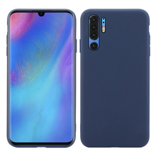 For Huawei P30 Pro Case Silicone Candy Color Matte Soft TPU Slim Back Cover Shockproof Funda