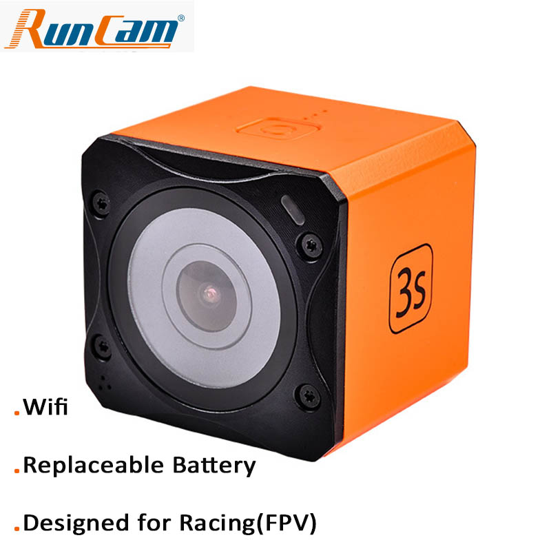 Runcam 3S WIFI 1080p 60fps WDR 160 Degree FPV Action Camera Detachable Battery for RC Racing DroneRuncam 3S WIFI 1080p 60fps WDR 160 Degree FPV Action Camera Detachable Battery for RC Racing Drone