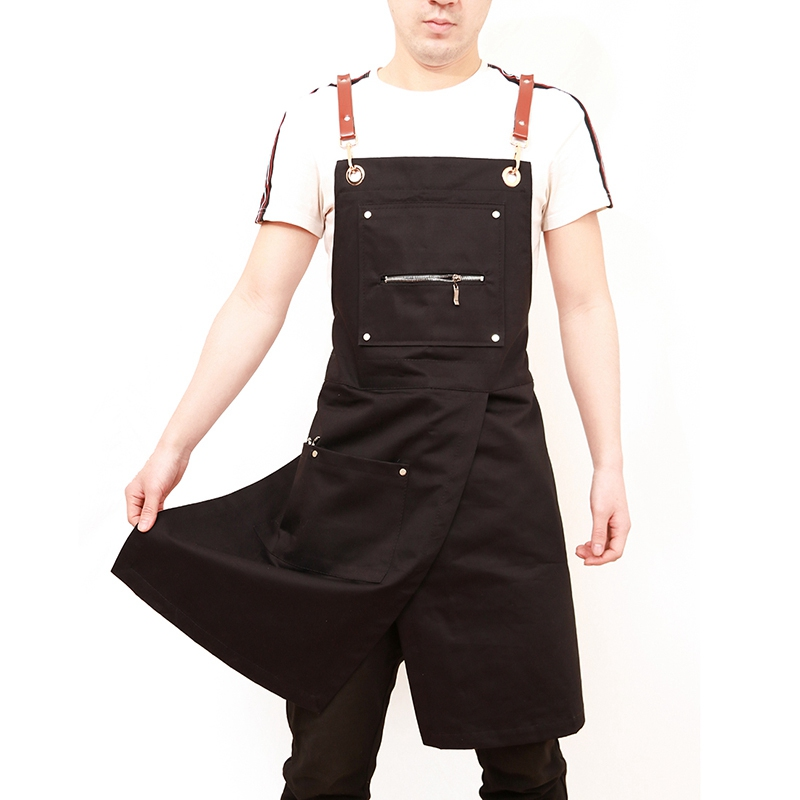 Apron Work-Clothing Work-Wear Coffee-Shop Cooking Fashion Antifouling Sleeveless-Style