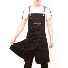Модный фартук в стиле «унисекс», фартук для работы в кофейне, фартук для приготовления пищи, фартук, рабочая одежда без рукавов, стильная Рабочая одежда