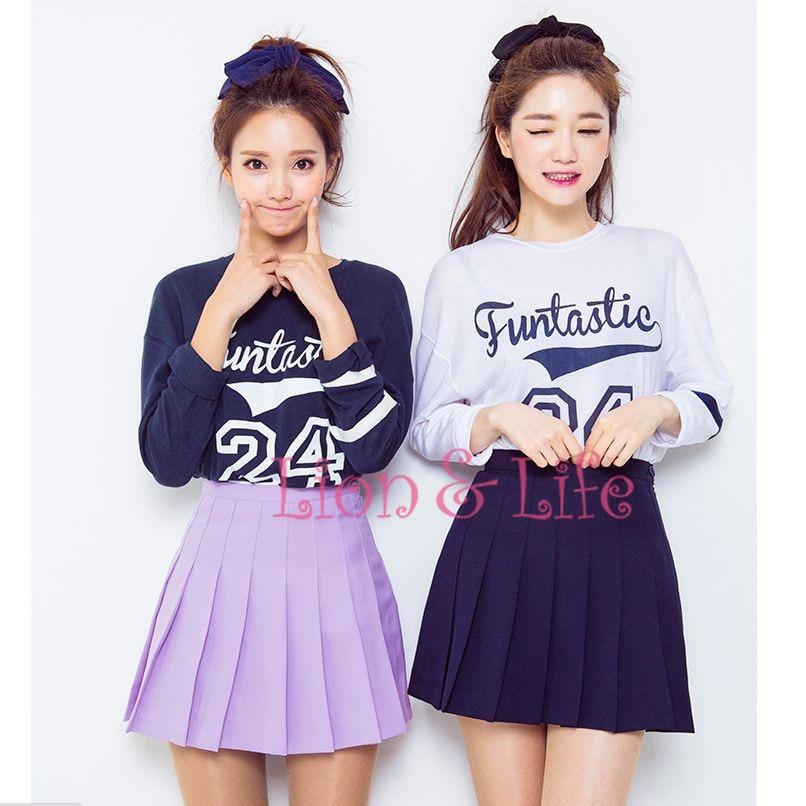 Women Girl JK Sailor Mini Zip Uniform High Waist Slim Short Pleated Skirt