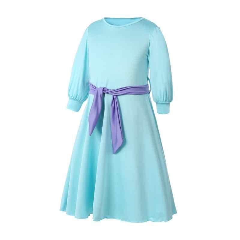 2 個アバヤ子供ガールズイスラム教徒服ドレス + ハンカチアラブイスラム服かわいいカフタンヒジャーブドレスホリデーマキシローブ