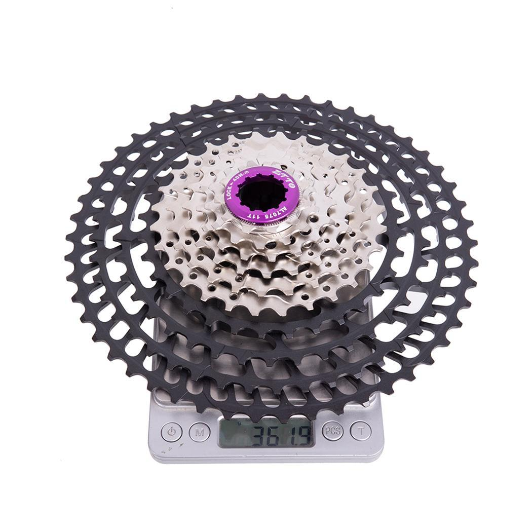 Durable Sturdy <font><b>10</b></font> Speed <font><b>50T</b></font> Bicycle Outdoor Sports For Bike Black Silver Cassette Bicycle Accessories image