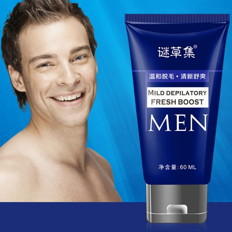Men Effective Leg Quickly Loss Depilatory Body 60ML Depilatory Cream Hair Removal image