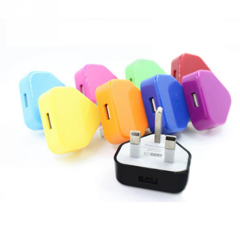 100 pièces blanc UK prise secteur mur 3 broches USB adaptateur secteur chargeur pour téléphone portable tablette