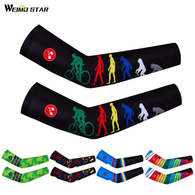 Weimostar Brand Cycling Arm Warmers Basketball Running Arm Sleeve UV Protection Mountain Bike Compression Sleeve Cycling Cover