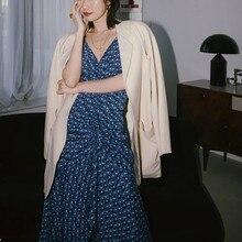 فستان كاجوال منقوش بكشكشة أمامية ألوان زاهية
