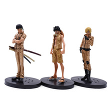 3 PCS/set Anime One Piece DXF Gold Luffy Roronoa Zoro Vinsmoke Sanji PVC Action Figure Doll Collectible Model Toy Christmas Gift цена 2017