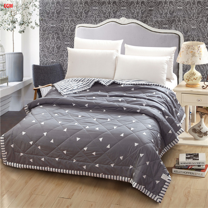 Home textile gray geometric Summer comforter black and white quilts patchwork throw bed 150*200cm 200*230cm full queen bedspreadHome textile gray geometric Summer comforter black and white quilts patchwork throw bed 150*200cm 200*230cm full queen bedspread
