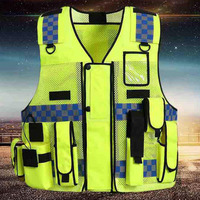 Reflective Safety Warning Vest Working Clothes Reflectante Chaleco Day Night Protective Vest For Cycling Road Traffic YFY019