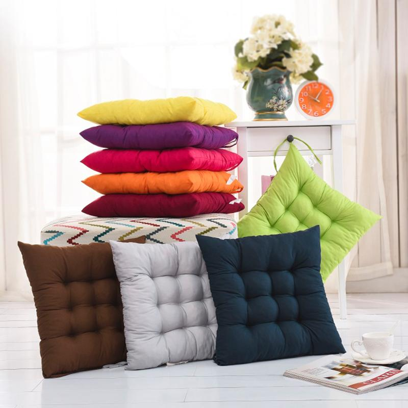 Chair Cushion Sofa Pillow Back-Seat Comfortable 11-Colors Cotton Home-Decor Pearl Buttocks