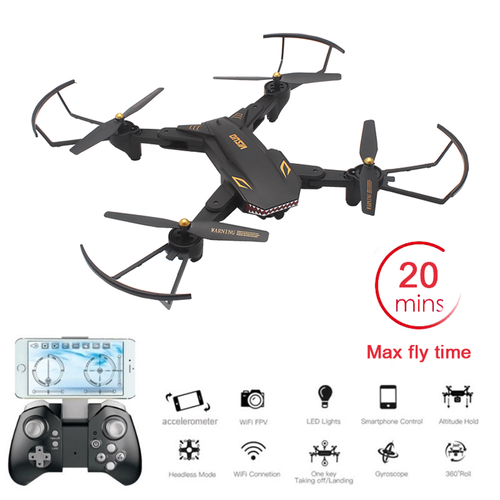 VISUO XS809S Foldable Selfie Drone with Wide Angle 2MP HD Camera WiFi FPV XS809HW Upgraded RC Quadcopter Helicopter Mini DronVISUO XS809S Foldable Selfie Drone with Wide Angle 2MP HD Camera WiFi FPV XS809HW Upgraded RC Quadcopter Helicopter Mini Dron