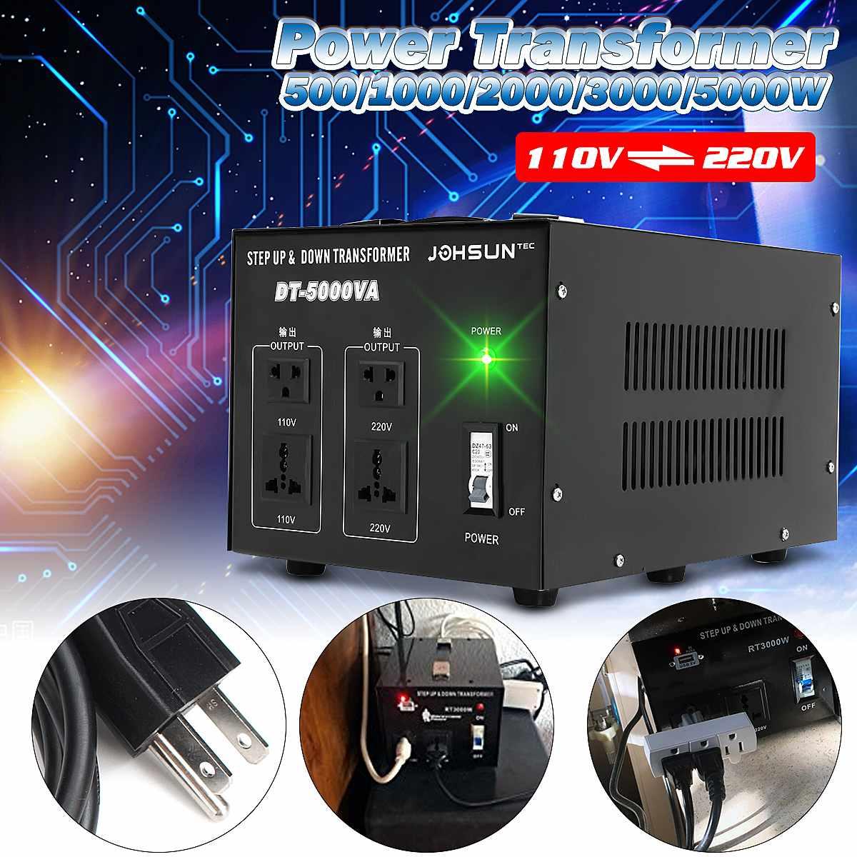 500/1000/2000/3000/5000 W convertisseur de tension lourde transformateur de puissance 220 V auf 110 V convertisseur