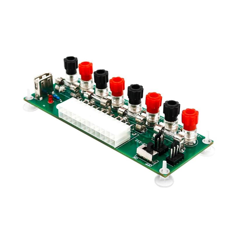 Electric Circuit 24Pins ATX Benchtop Computer Power Supply Breakout board  module DC plug connector