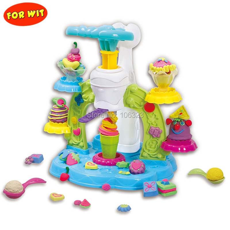 New Style, Patisserie Creative Colors Dough, Create & Modeling Whirlwind Ice Cream, Playdough Game Toys Training Child's Ability