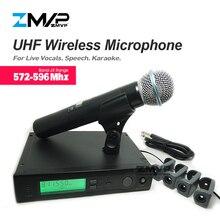 ZMVP УВЧ Профессиональный SLX24 беспроводной микрофон SLX Беспроводная караоке система с BETA58 ручной передатчик диапазона J3 572-596 МГц