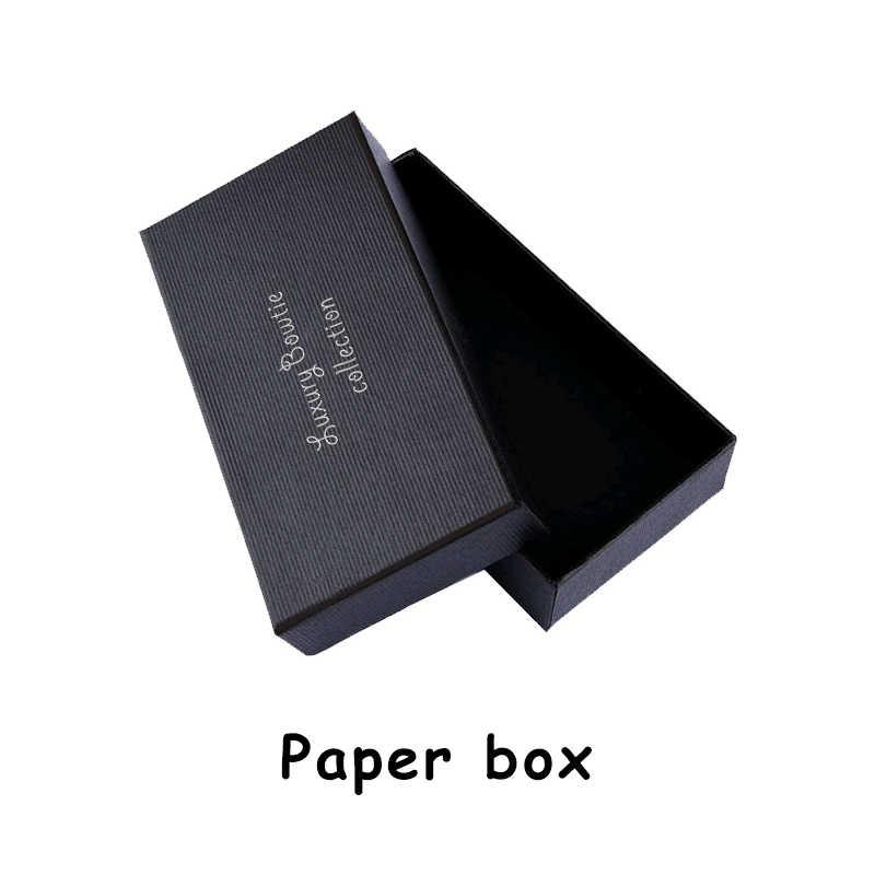 JEMYGINS ต้นฉบับผู้ชาย bow tie feather โบว์หนังเทียม bow tie เข็มกลัดไม้กล่องกล่องชุดงานแต่งงานของขวัญ