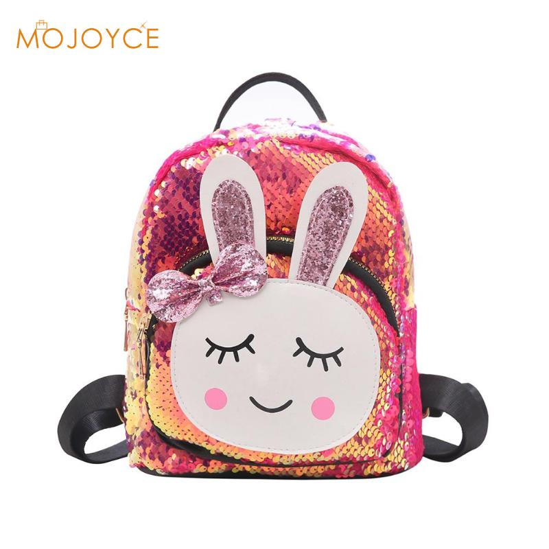 2019 New Fashion High Quality Children Girls Babbit Bag Faux Leather + Sequins School Bookbag Shoulder School Bags 2019 New2019 New Fashion High Quality Children Girls Babbit Bag Faux Leather + Sequins School Bookbag Shoulder School Bags 2019 New