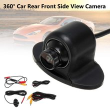 360 Degree Rotation CCD CMOS HD Car Front/Rear/Side View Camera Night Vision Rearview Camera Parking Reverse Backup Camera(China)