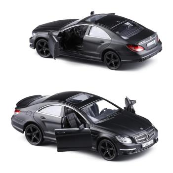 Matte Black 1:36 Scale Diecast Alloy Metal Sports Car Model For TheBenz CLS 63 AMG Collectible Model Collection Toys Car