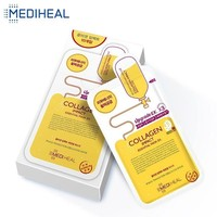 Mediheal Collagen Korean Face Mask Moisturizing Facial Sheets Cosmetics Tightening Lift Shrink Pores Whitening Skin ,25ml*10pcs