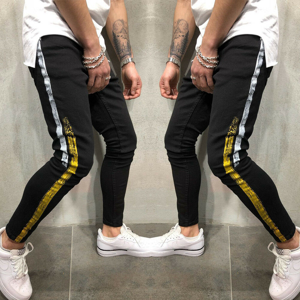 Mannen Potlood Jogger Slanke Mode Broek Urban Straight Leg Broek 2018 Nieuwe Casual Solid Broek Uitloper Hot