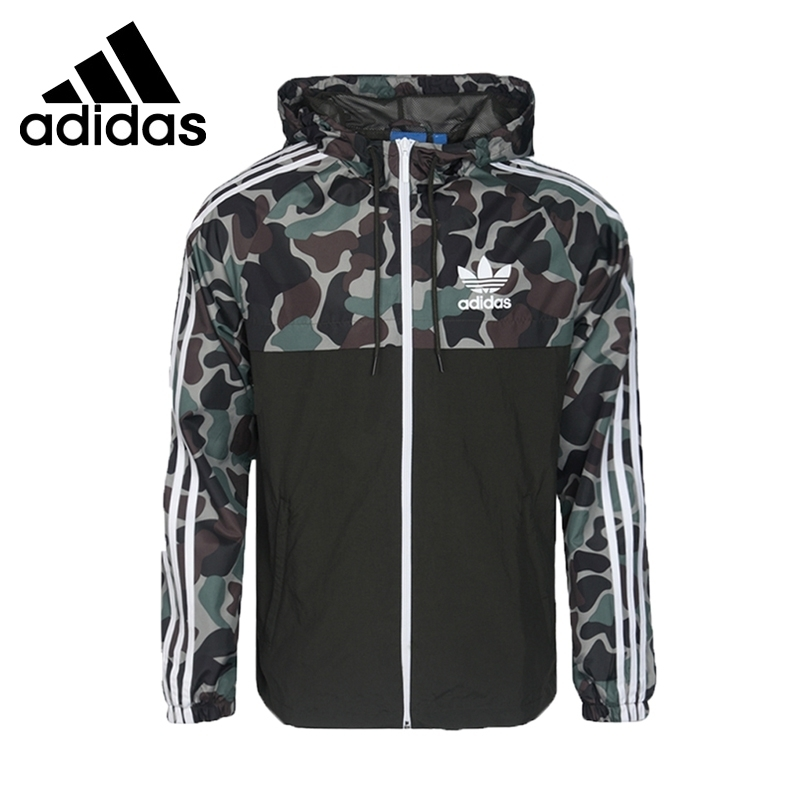<font><b>Adidas</b></font> CAMO REV WB Original New Arrival <font><b>Men</b></font> Running Jacket Windproof Quick Dry Sportswear #BS4907 image