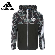 Adidas CAMO REV WB Original New Arrival Men Running Jacket Windproof Quick Dry Sportswear #BS4907 original new arrival 2018 adidas neo label m cs sweatshirt men s pullover jerseys sportswear