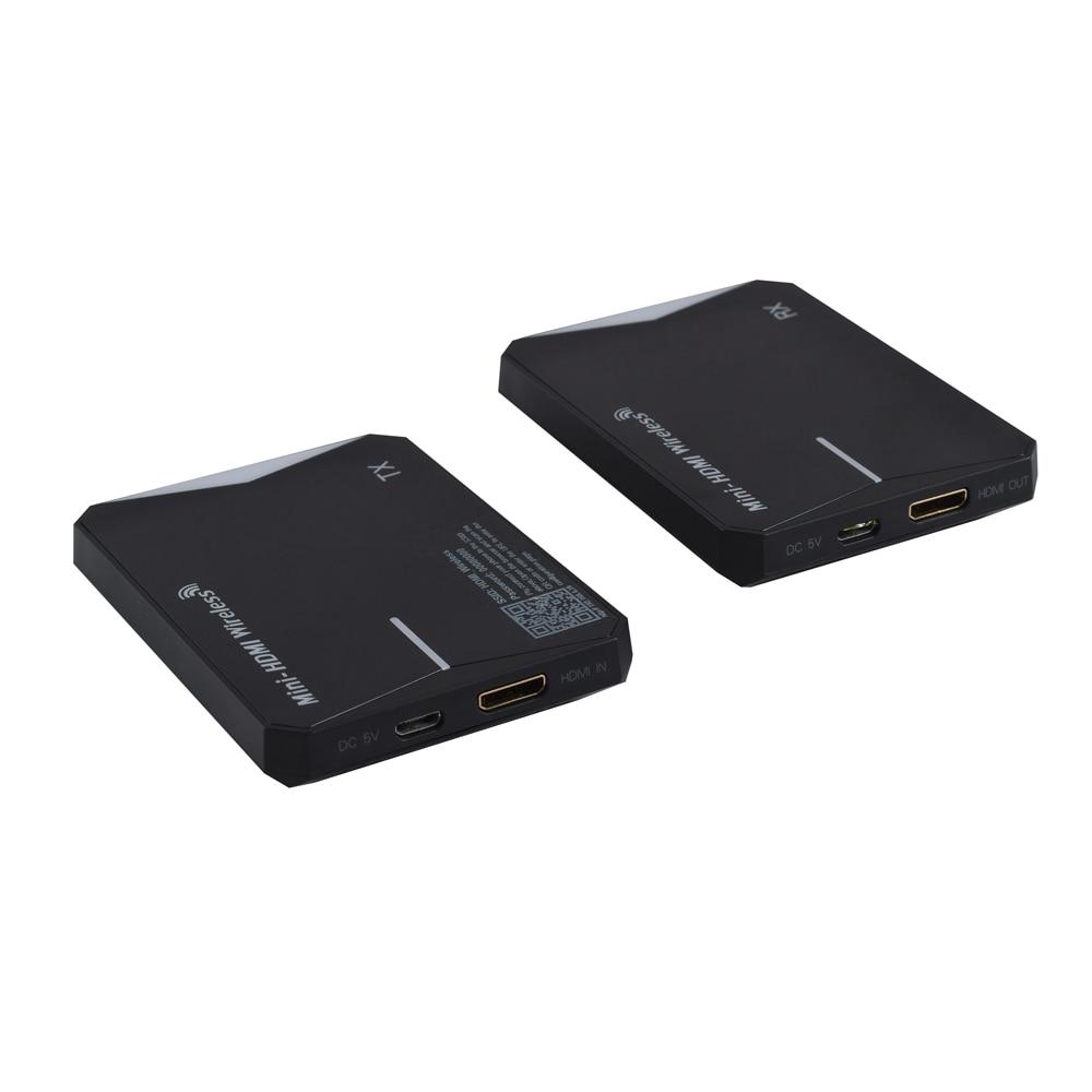 2.4G/5 GHz double fréquence 1080 P mini sans fil hdmi ir extender jusqu'à 60 m/196FT pour HDTV ordinateur portable PC Blu-Ray etc, prise en charge USB powe