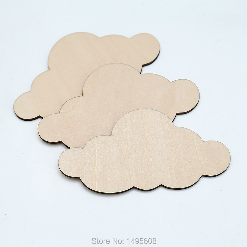 Wooden Clouds For Crafts,Laser Cut Wood Blank Shape, Art Project Decor, Cloud Wedding,home, Wood Wall Decor