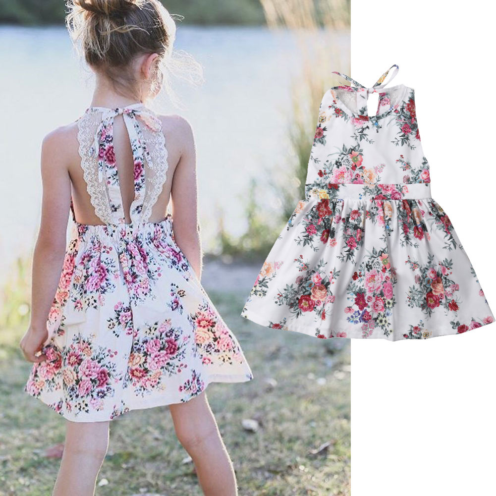 Toddler Kids Baby Girls Summer Princess Dress Party Wedding Pageant Dresses 2-9Y