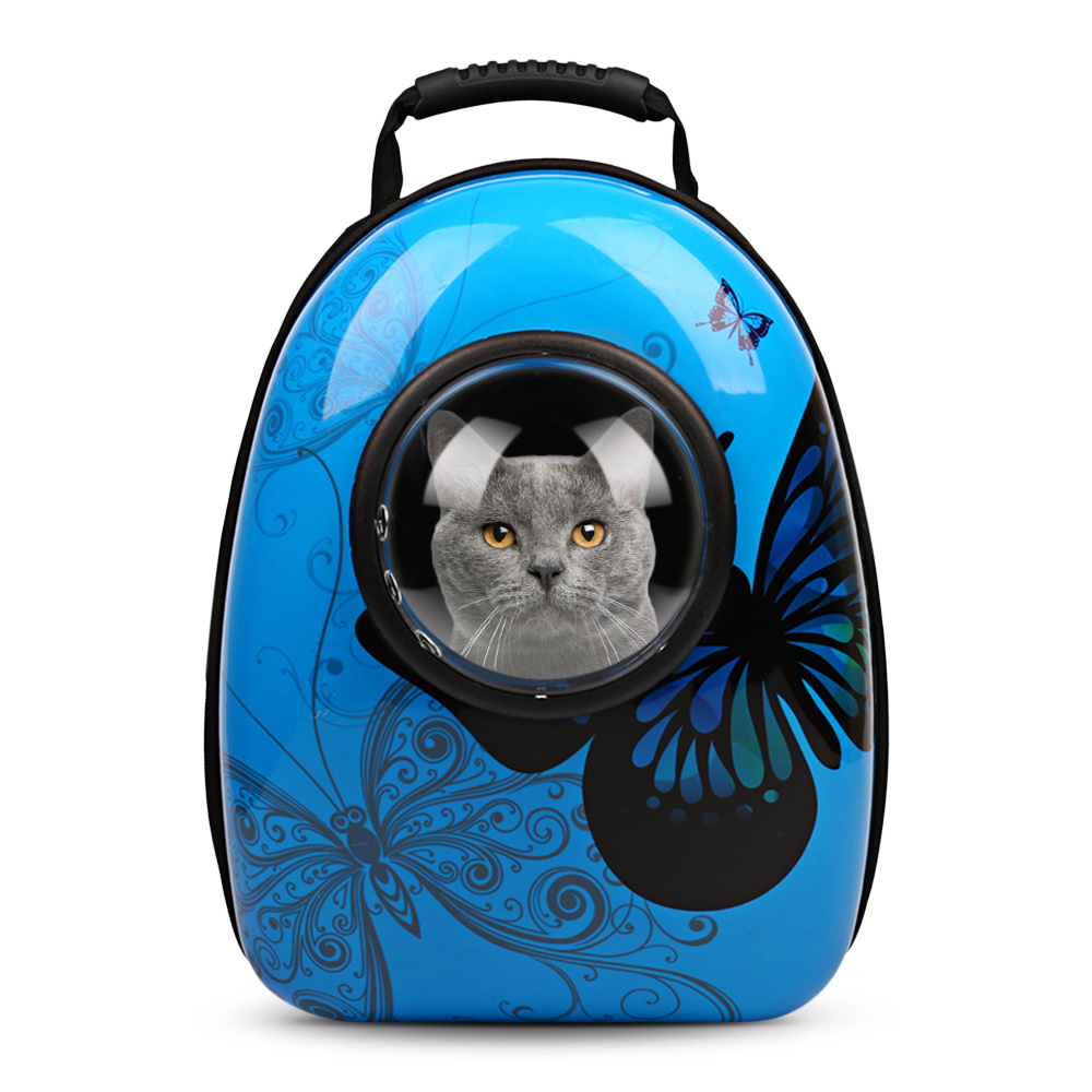 Portable Pet Cat Carrier Backpack Puppy Cat Dog Outdoor Hiking Travel Bag Capsule Ventilated With Transparent Visible Window
