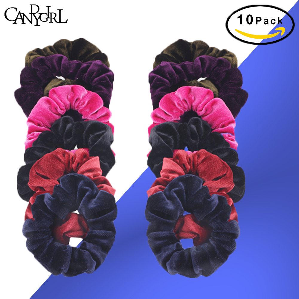 10pcs Girls' No Crease Hair Ties Headband Earmuffs