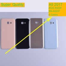 50Pcs/lot For Samsung Galaxy A5 2017 A520 A520F SM-A520F Housing Battery Cover Back Cover Case Rear Door Chassis A5 2017 Shell