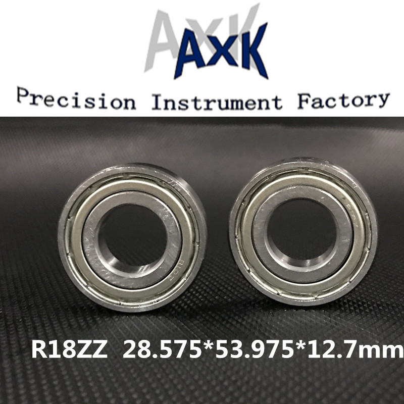 2019 Special Offer Real Axk 5pcs R18zz Deep Groove Ball Bearing 28.575x53.975x12.7mm Inch Miniature Abec-32019 Special Offer Real Axk 5pcs R18zz Deep Groove Ball Bearing 28.575x53.975x12.7mm Inch Miniature Abec-3