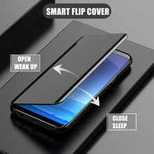 Smart Flip Stand Mirror Case For Xiaomi Mi Max 3 Clear View PU Leather Cover Max3 for