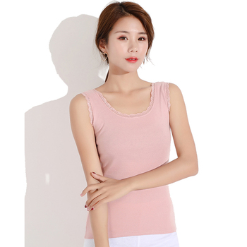 Knitted Summer Vest Women Cotton Sleeveless Lace Vest Female Tank Tops Plus Size Sexy Sling Vest O-neck Casual Camisole Loose Tank Tops