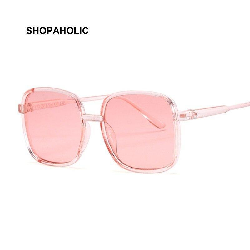 Mode Vintage carré femmes lunettes De soleil marque Design rétro bonbons rose lunettes De soleil femme Oculos De Sol UV400