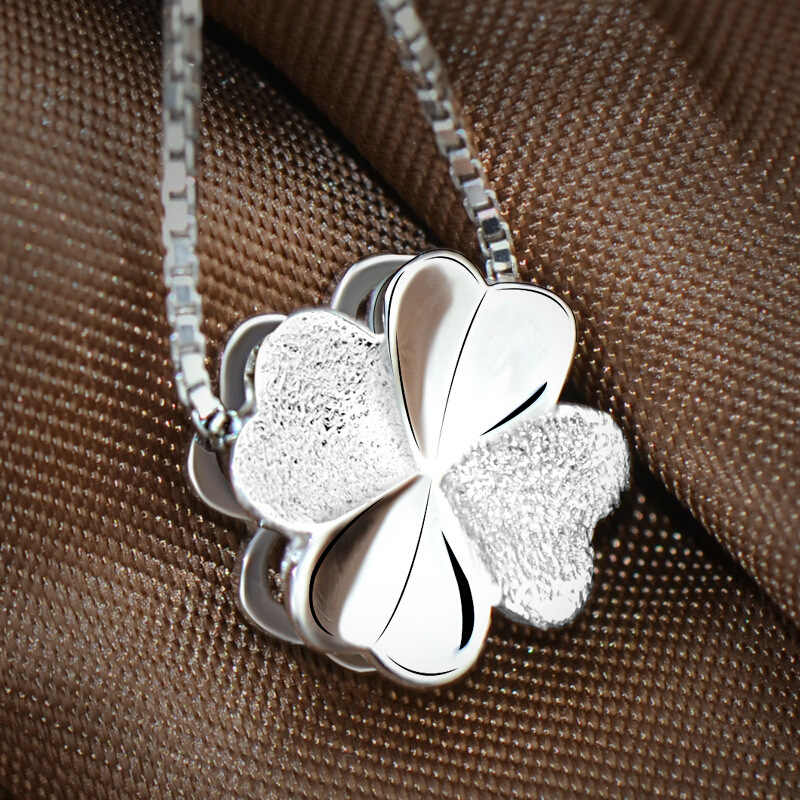 925 Sterling Silver clover Necklaces & Pendants For Women Fashion Lady Festival Gift Sterling-silver-jewelry
