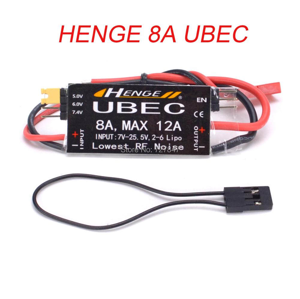 HENGE 8A UBEC 5 V//6 V 6A 6-16 zelle 8A Max 12A Inport 7 V-25,5 V 2-6 S Lipo