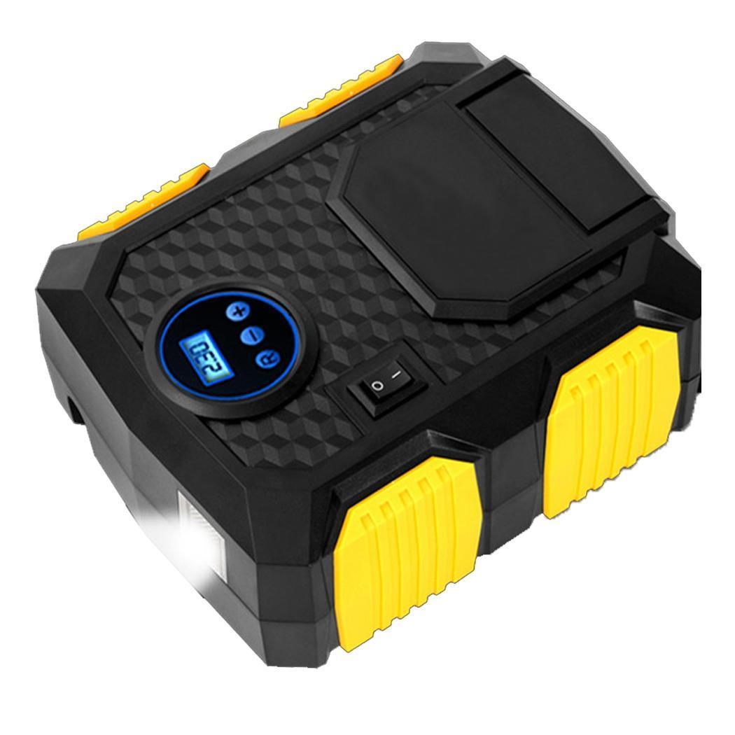 Numérique Portable pompe de gonflage de pneus de voiture Air allume-cigare Plug Compresseur 150PSI pour la voiture 10A 8 minutes De Vélo