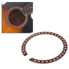 GXB06 Wood Guitar Rosette Curved Strips Guitar Sound Hole Inlay Guitar Decals(China)