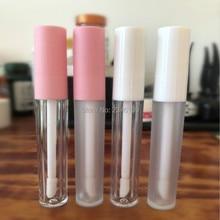 Розовый чехол губная трубка 3 мл белая крышка блеск для губ трубка пустой блеск для губ Упаковка матовый пластиковый для губ блеск трубка Косметика 50 шт