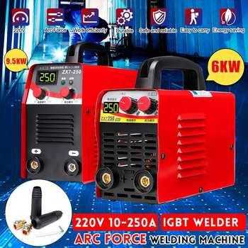 220V 6KW/9.5KW ZX7-250 10-250A Arc Force Electric Welding Machine Mini/Pro LCD Digital Display MMA IGBT Inverter Welders Newest