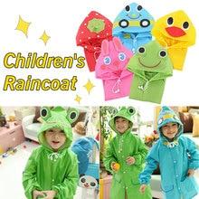 все цены на Cartoon Animal Rain Coat Waterproof Kids Raincoat For Children  Rainwear Student cartoon Rainsuit Poncho Hot онлайн