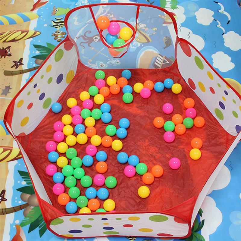 Kids Ball Pit Tent Playpen with Basketball Hoop and
