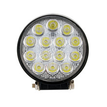 pair-42W 4 round LED work light off road powersports ATV UTV motorcycle driving fog headlamp for Boating Fishing Hunting
