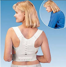 Women Men T-shirt Slim Fit Adjustable Bandage Posture Corrector Solid Black White(China)