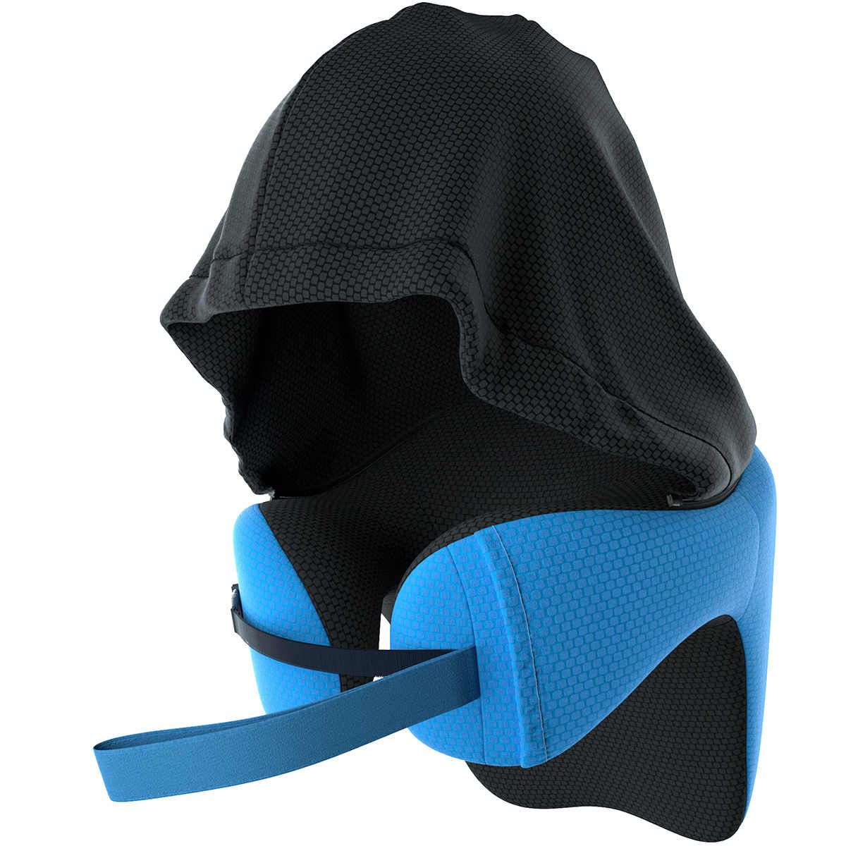 LANGRIA 6 · イン · 1 長距離低反発トラベル枕取り外し可能なフード調節可能な首枕旅行車昼寝レストクッション